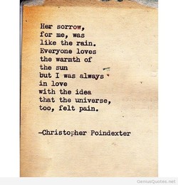 Her sorrow, 