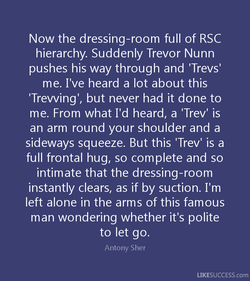 Now the dressing-room full of RSC
