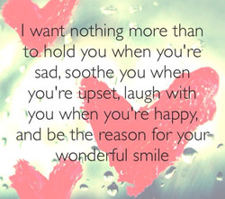 want nothing more than 