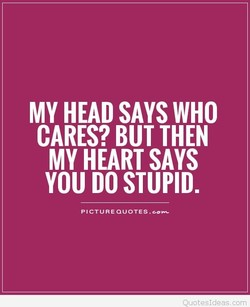 MY HEAD SAYS WHO 