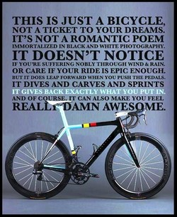 THIS IS JUST A BICYCLE, 
