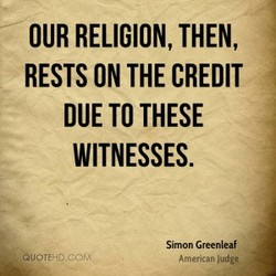OUR RELIGION, THEN,