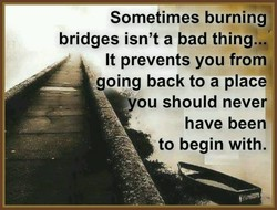Sometimes burning
