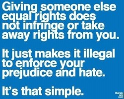 Giving someone else