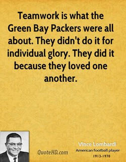 Teamwork is what the 