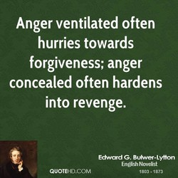 Anger ventilated often 
