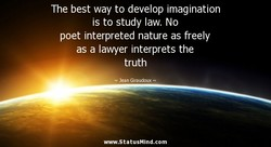 The best way to develop imagination 