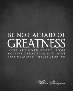 BE NOT AFRAID OF 
