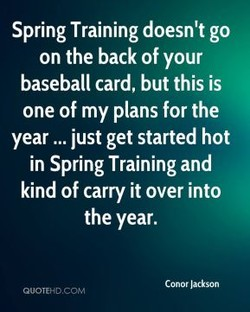 Spring Training doesn't go 