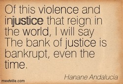 Of this violence and 