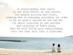 A relationship that lasts 
