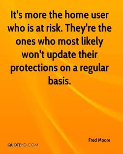 It's more the home user 