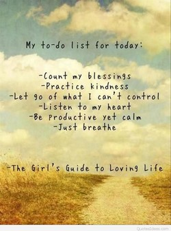 My +o-do I is + for +oday: 