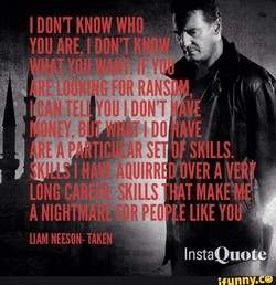 I DON'T KNOW WHO 