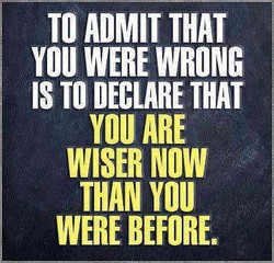 TO ADMIT THAT 