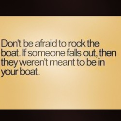 Don't be afraid to rock the 