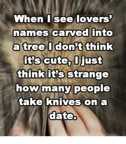 When I see lovers' 