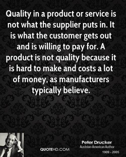 Quality in a product or service is 