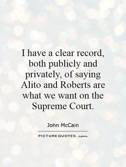 I have a clear record, 