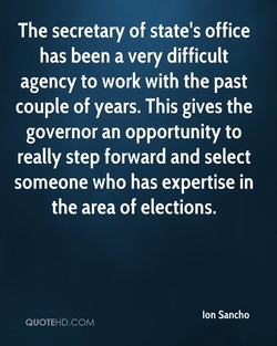 The secretary of state's office 