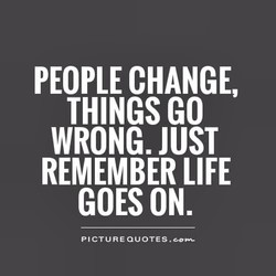 PEOPLE CHANGE, 