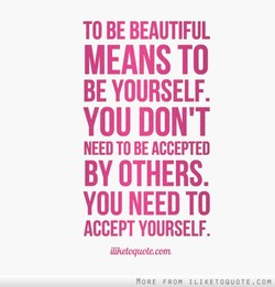 TO BE BEAUTIFUL