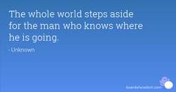 The whole world steps aside 