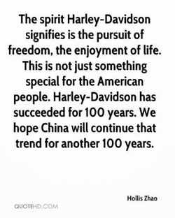 The spirit Harley-Davidson 