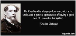 Mr. Chadband is a large yellow man, with a fat 