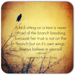 A. bird sitting on a tree is never 