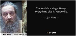 The world's a stage, & 