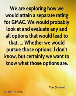 We are exploring how we 