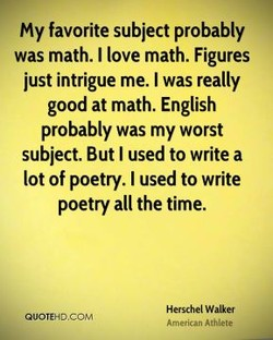 my favorite subject probably 