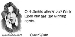 One Should always Play Fairly 