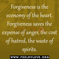 Forgiveness is the 