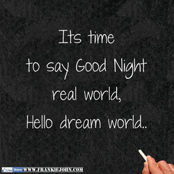 to say good Night 