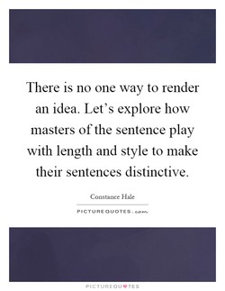 There is no one way to render 