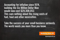 Accounting for inflation since 1974,