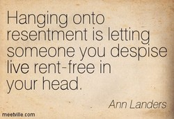 Hanging onto