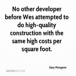 No other developer 