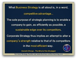 What Business Strategy is all about is, in a word, 