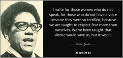 write for those women who do not 
