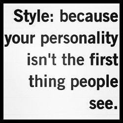 Style: because 