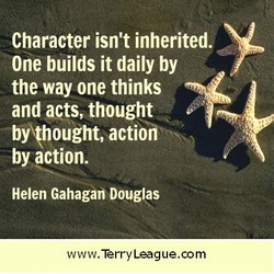 Character isn't inherited. 