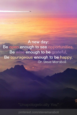 A new day: 