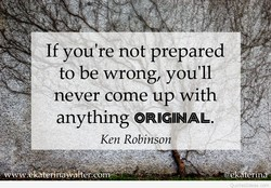 If you're not prepared 