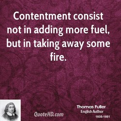 Contentment consist 