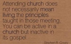 Attending church does 