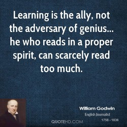 Learning is the ally, not 