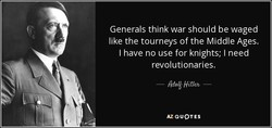 Generals think war should be waged